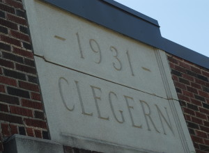 1931 Clegern sandstone inscription